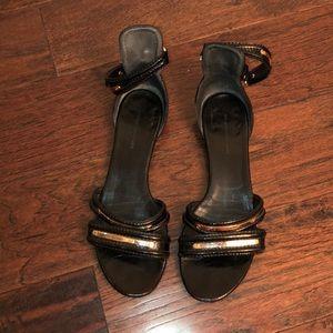 Balenciaga Black Rose Gold Sandals 39
